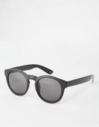 Круглые солнцезащитные очки в стиле ретро Monki - Черный