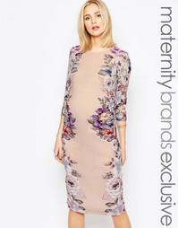 Облегающее платье-футляр для беременных с цветочным принтом Bluebelle