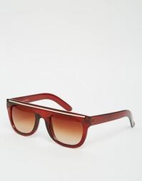 Солнцезащитные очки в черепаховой оправе 7X - Коричневый