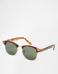 Коричневые солнцезащитные очки с зелеными стеклами 7X - Коричневый