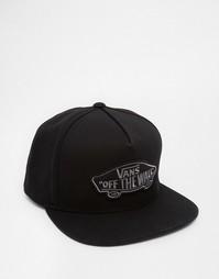 Классическая бейсболка с нашивкой-логотипом Vans - Черный