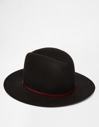 Мягкая фетровая шляпа с широкими полями Catarzi - Черный
