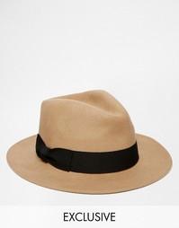 Шерстяная шляпа Reclaimed Vintage - Коричневый