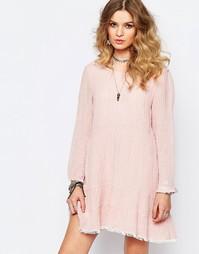 Свободное платье Stevie May Dusky Ends - Розовый