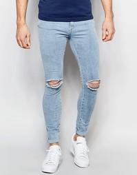 Рваные супероблегающие джинсы Dr Denim Dixy - 80s stone