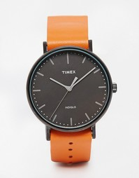 Часы со светло-коричневым ремешком Timex Weekender Fairfield TW2P91400