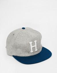 Классическая шерстяная кепка с ремешком на затылке HUF - Серый
