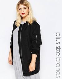 Куртка-пилот Boohoo Plus - Черный