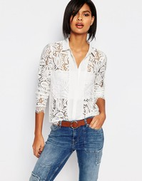 Кружевная рубашка Vero Moda - Белый