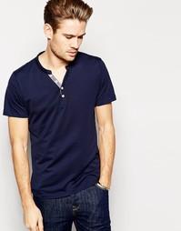 Винтажная футболка из хлопка пима Selected - Темно-синий