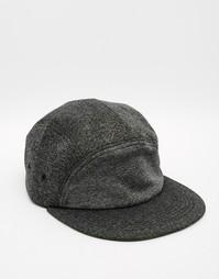 Серая фактурная 5-панельная кепка ASOS - Серый