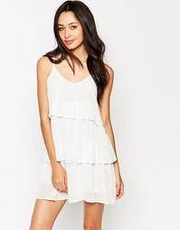 Ярусное платье мини Glamorous - Кремовый
