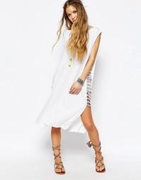 Платье с плетеной отделкой Pitusa - Белый