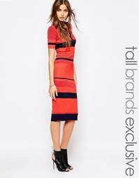 Вязаное платье-футляр с воротником Glamorous Tall - Красный
