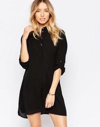 Пляжное платье-рубашка Echo - Черный