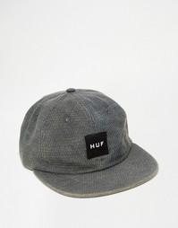 Стеганая регулируемая 6‑панельная кепка HUF Mircro - Черный