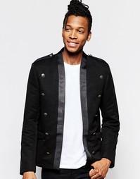 Черная куртка слим в стиле милитари ASOS - Черный