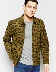 Зеленая куртка с камуфляжным принтом Lee - Темно-болотный