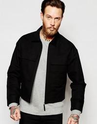 Черная куртка в стиле милитари с нагрудными карманами ASOS - Черный