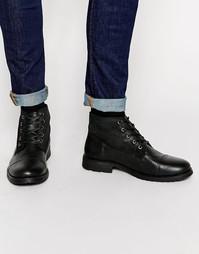 Кожаные теплые ботинки Jack & Jones Crust - Черный