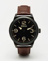 Часы со светло-коричневым кожаным ремешком Breda Stephen - Рыжий