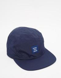Нейлоновая 5‑панельная кепка Herschel Supply Co Glendale - Темно-синий