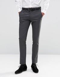 Стретчевые брюки скинни в тонкую полоску Selected Homme Morning Weddin