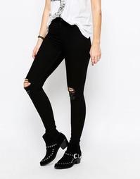 Облегающие джинсы скинни Cheap Monday - Рваный черный