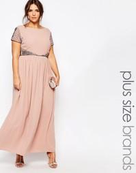 Платье макси Lovedrobe - Розовый