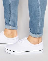 Белые кеды со шнуровкой ASOS - Белый