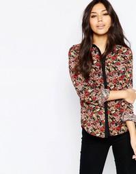 Рубашка с цветочным принтом Iska - Burgandy