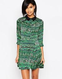 Платье с принтом Iska - Зеленый