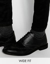 Черные оксфордские туфли из кожи ASOS - Черный