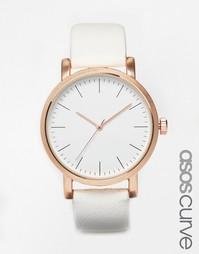 Часы с крупным циферблатом ASOS CURVE - Белый