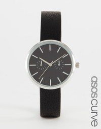 Элегантные часы в черно-серебристой гамме ASOS CURVE - Черный