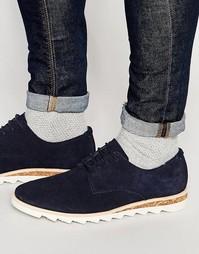 Темно-синие замшевые туфли дерби ASOS - Темно-синий
