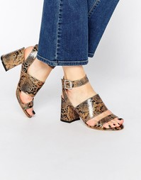 Сандалии на каблуке с перекрестными ремешками Truffle Collection Newdy