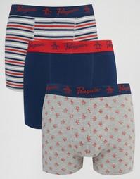 Комплект из 3 шортов-боксеров Original Penguin - Красный