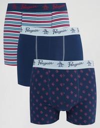Комплект из 3 шортов-боксеров Original Penguin - Темно-синий
