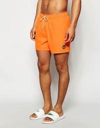 Однотонные шорты для плавания Hollister - Оранжевый