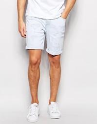 Выбеленные джинсовые шорты скинни с потертостями ASOS