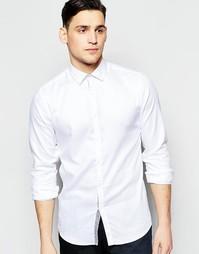 Фактурная рубашка слим Vito - Белый
