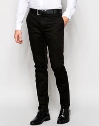 Хлопковые брюки слим Hugo By Hugo Boss - Черный