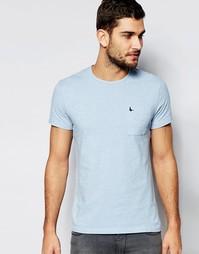Голубая футболка слим с карманом Jack Wills - Blue nep