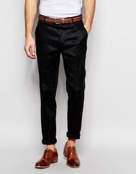 Черные облегающие брюки в строгом стиле ASOS - Черный