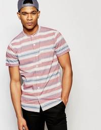 Рубашка в горизонтальную полоску с короткими рукавами Hollister