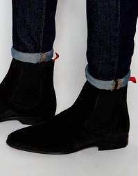 Черные замшевые ботинки челси ASOS - Черный