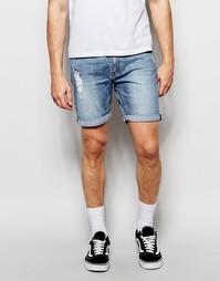 Джинсовые шорты слим с потертостями Cheap Monday - Future