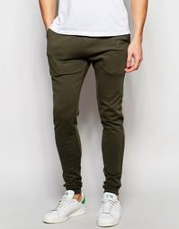 Супероблегающие спортивные штаны цвета хаки ASOS - Forest night