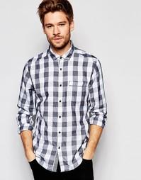 Клетчатая рубашка с длинными рукавами Esprit - Черный